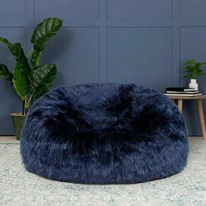 Bean bag fur cover sofa without Bean Blue for luxuries Living room uses gift