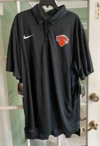 Men's Nike NBA New York Knicks T-Shirt Dri-Fit Black 877632-010 Size XXL-TALL