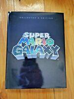SUPER MARIO GALAXY COLLECTORS EDITION HARDCOVER BOOK - NINTENDO *RARE* WII