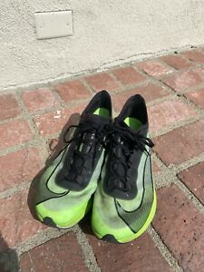 Nike Zoom Fly 3 Electric Running Shoes Men's Size 9.5 Green/Black - AT8240-300