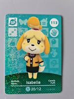 Animal Crossing Amiibo Card Isabelle Series 2 113 (Brand New - Unscanned)