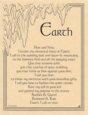 5 Elements Invocation + Pentagram Parchment Page Set For Book of Shadows, Altar!