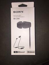 Sony WI-C200 Wireless Bluetooth Earphones In ear Headphones Headsets Black