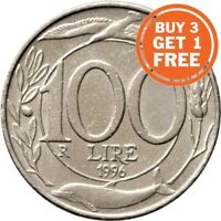 100 ITALIAN LIRE COIN 1993 TO 1999 WITH COMMEMORATIVE ISSUES ITALY