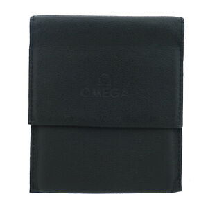 OMEGA BLACK LEATHER WATCH/PARTS TRAVEL POUCH