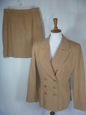 Barami Women's Suit 2 Piece Beige Skirt Suit Size 10/12