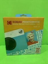 Kodak PRINTOMATIC Digital Instant Print Camera (Blue), Full Color Prints On ZINK