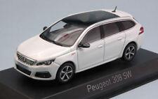 Peugeot 308 Sw Gt 2017 Pearl White 1:43 Model NOREV