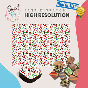 Chocolate Transfer Sheet (Christmas | Santa) Edible for Decorations A4 Size