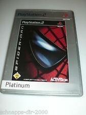 SPIDER-MAN PLATINUM KOMPLETT MIT ANLEITUNG PLAYSTATION 2 PS2 SPIEL IN DEUTSCH