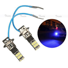 2x26 Car LED H3 Deep Blue Fog Driving Light DRL DayTime Running Headlight Bulb