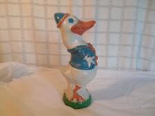 Vintage cast iron Donald duck door stop Rare!