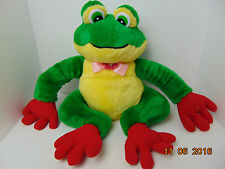 "Frog Plush Stuffed Animal Green/Black  Eye ,Sitting Toy 14"" -20"""