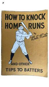 1930s Vintage MLB Baseball Babe Ruth Quaker Oats How To Knock Home Runs