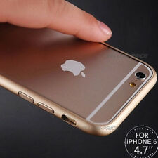 iPhone 6 6S 4.7inch Ultra Slim Gold Metal Aluminum Bumper Buckle Open Case Films