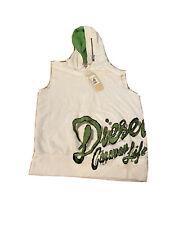 Diesel NWT vest pullover hoodie size large big logo