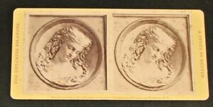 Circa 1876 Stereoview-Dreaming Iolanthe-Study In Butter-Caroline S Brooks