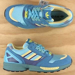 Adidas ZX 8000 Light Aqua Blue Sand Yellow Athletic Sneakers FY7686 Multi Size