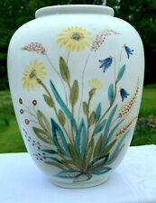 "Rorstrand Meadow Flowers Vase Sweden Approx 8"" tall Lars Thoren"