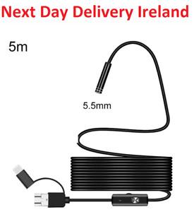 Type C USB Waterproof Endoscope Borescope Inspection Snake Camera Drain Samsung