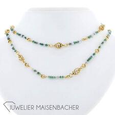 Gold herreros Engelhardt-nuez Collier-cadena * esmeralda *, camilla longitud 75cm