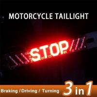 51 LED Motocicleta Trasera Freno Señal de giro Luz de matrícula Lámpara *ws