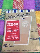 One Pair Vintage Miss Metropolitan Nude Garter Stockings 10 Mesh