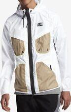 Da Uomo Nike 834451100 Windrunner Giacca HD Internazionale Large White Cachi