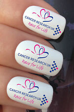 NAIL ART #658 x12 CANCER RESEARCH RACE FOR LIFE WATER TRANSFER DECALS STICKERS