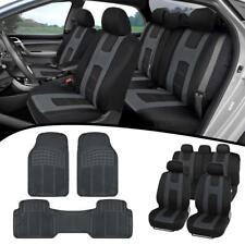 Car Suv Van Seat Covers & All Weather Rubber Floor Mats - Full Interior Set