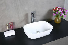Modern Bathroom Counter Top Ceramic White Basin - Small Cloakroom basins UK