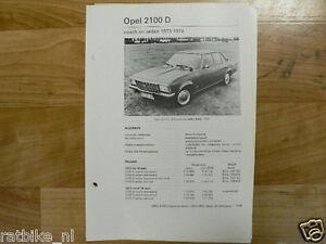 O02-OPEL REKORD 2100 D COACH EN SEDAN 1973-1974 INFO