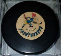 1969-74 WHL wha PHOENIX ROAD RUNNERS ROADRUNNERS USA GAME PUCK ART ROSS CONVERSE