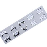 RANGE ROVER Gloss Silver Letter Hood Trunk Tailgate Emblem Badge Nameplate