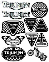 Set 11 PVC Vinyle Autocollants Triumph Speed Stickers Voiture Auto Moto Casque
