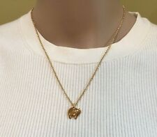 Christmas gift New Kate Spade Lucky Elephant Mini Pendant Necklace Gold + Duster
