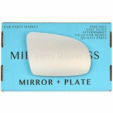 Right Driver side Flat Wing mirror glass for Vauxhall Corsa B 1993-2000 + plate