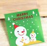 50pcs Merry Christmas Candy Gift Bags Xmas Cellophane Santa Cello Cookies in UK