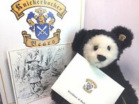 "Knickerbocker Vintage 93 In Honor Teddy Roosevelt 14"" Jointed Bear Signed LE MIB"