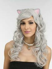 Mouse Wig ~ Cat Wig ~ Latex rubber ears ~ Cosplay  ~ Silver grey
