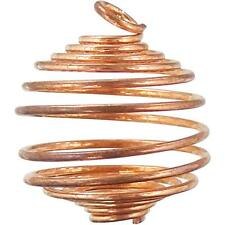 Flexible Copper Tumbled Stone, Crystal Cage!