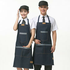 Jeans PLAIN APRON  FRONT POCKET CHEFS BUTCHER KITCHEN COOKING CRAFT BBQ BAKING