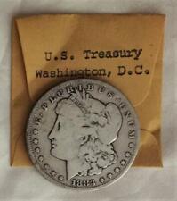 1883 CC Scarce Date Morgan Silver $ From US Treasury Cash Room Free USA Shipping