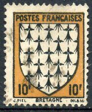 STAMP / TIMBRE DE FRANCE OBLITERE N ° 573 ARMOIRIE / BRETAGNE