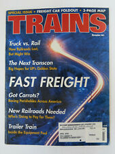 Trains 2001 11 Union Pacific UP maps and profile, Are truckers lucky?