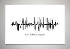 Queen - Bohemian Rhapsody - Sound Wave Print Poster Art