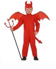 Teufelkostüm Kinder rot Kinderkostüm Teufel Kostüm Overall Gr. 110 cm