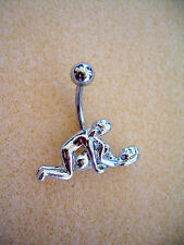 14g Kama Sutra Sex Position Navel Belly Ring Steel Surgical Steel #14