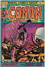 Conan the Barbarian #19 (Marvel 1972) FN+: Fafnir/Hawks from the Sea