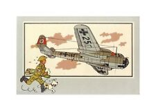 HERGé/TINTIN 195x  CHROMO L AVIATION 1939/45  N°19 TBE